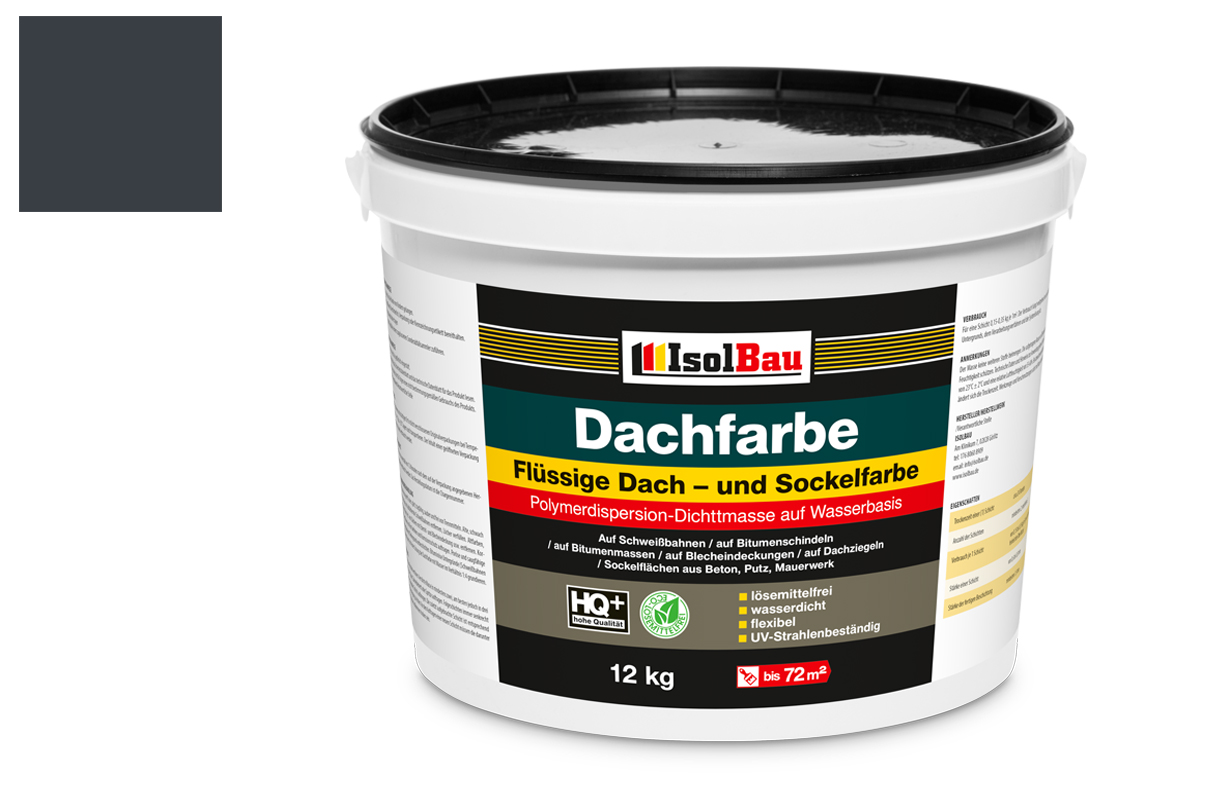 dach und sockelfarbe dachbeschichtung dachlack 12 kg anthrazit polymermembran ebay. Black Bedroom Furniture Sets. Home Design Ideas